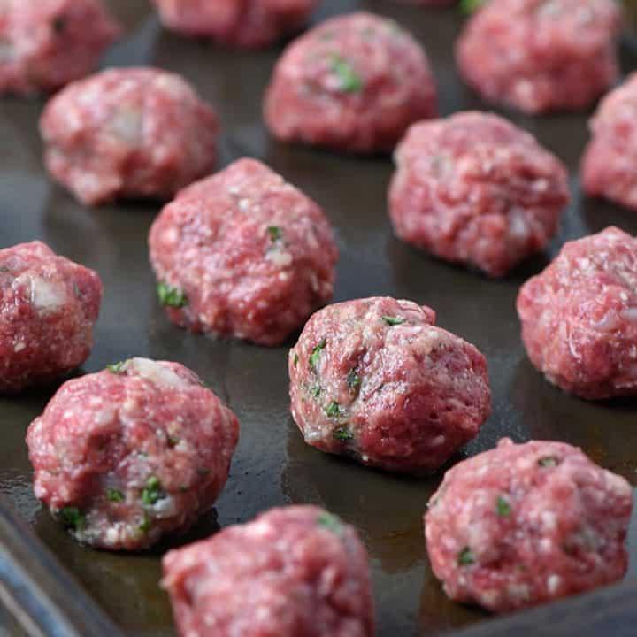 Baked Italian Cauliflower Meatballs