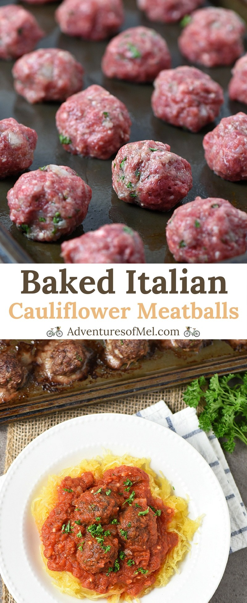 Baked Italian Cauliflower Meatballs Recipe