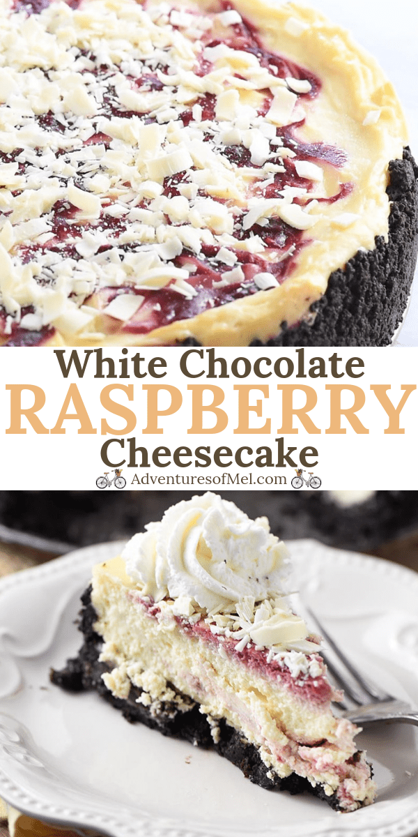 Olive Garden copycat recipe for white chocolate raspberry cheesecake