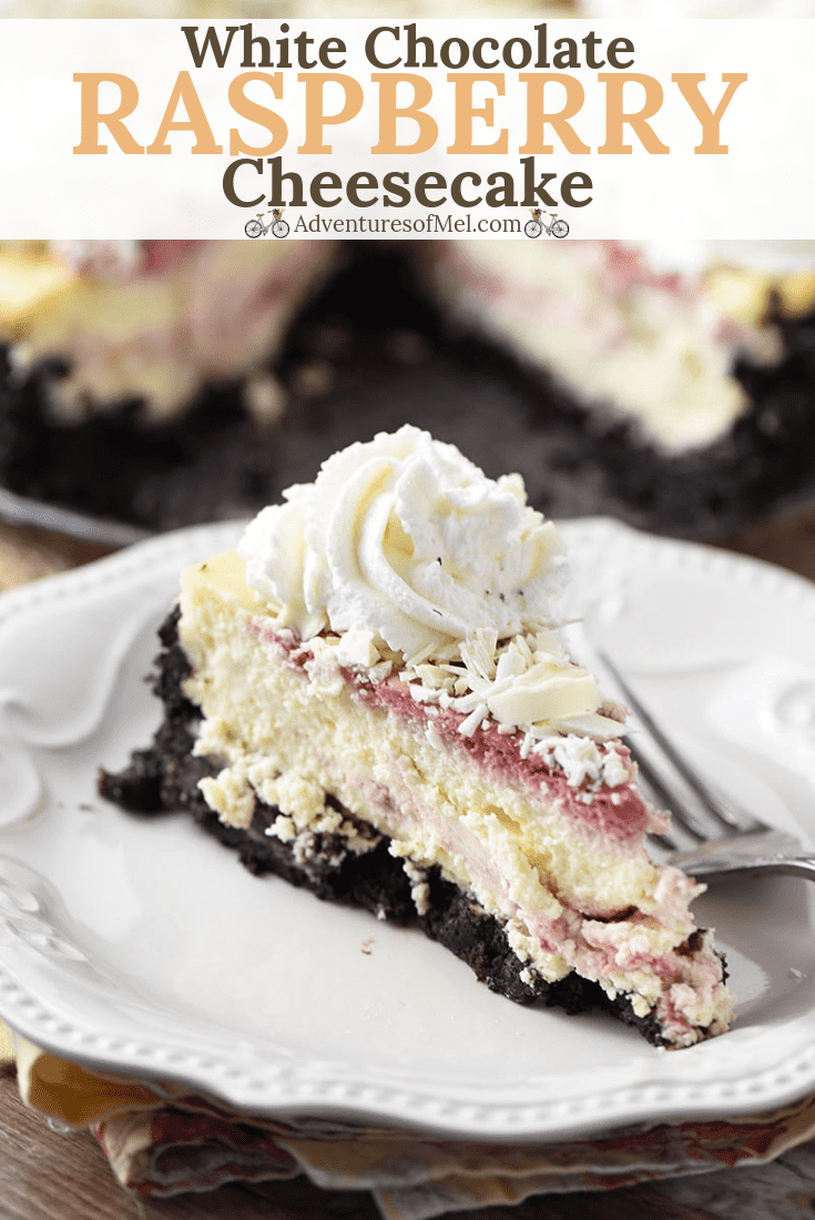 Heavenly slice of Olive Garden White Chocolate Raspberry Cheesecake