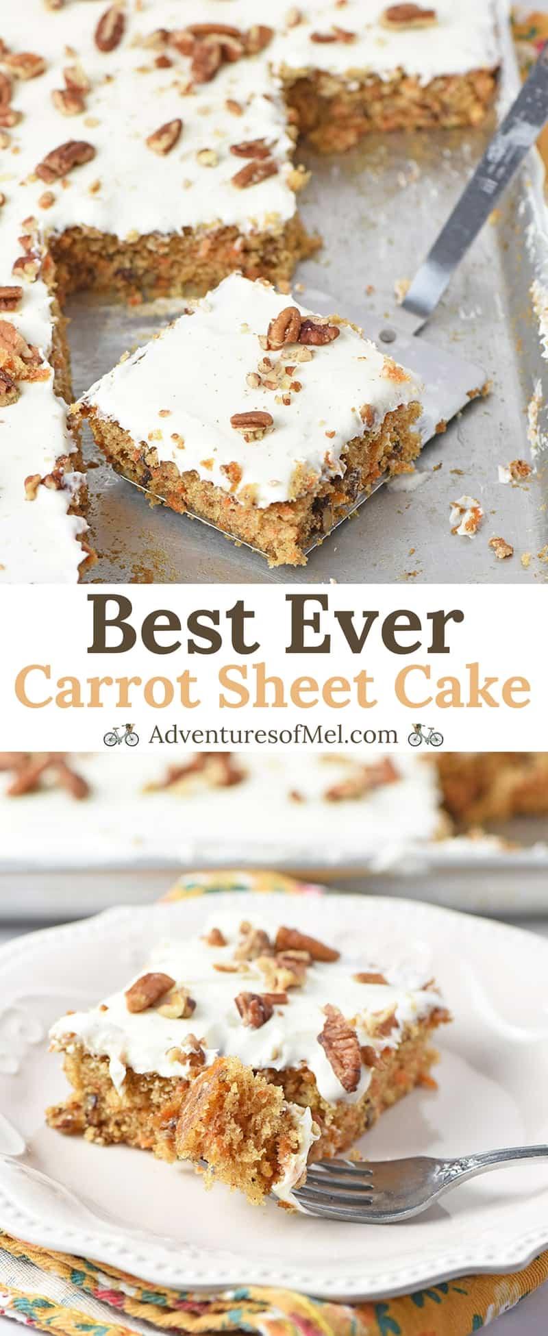 Best Ever Carrot Cake Sheet Cake Recipe