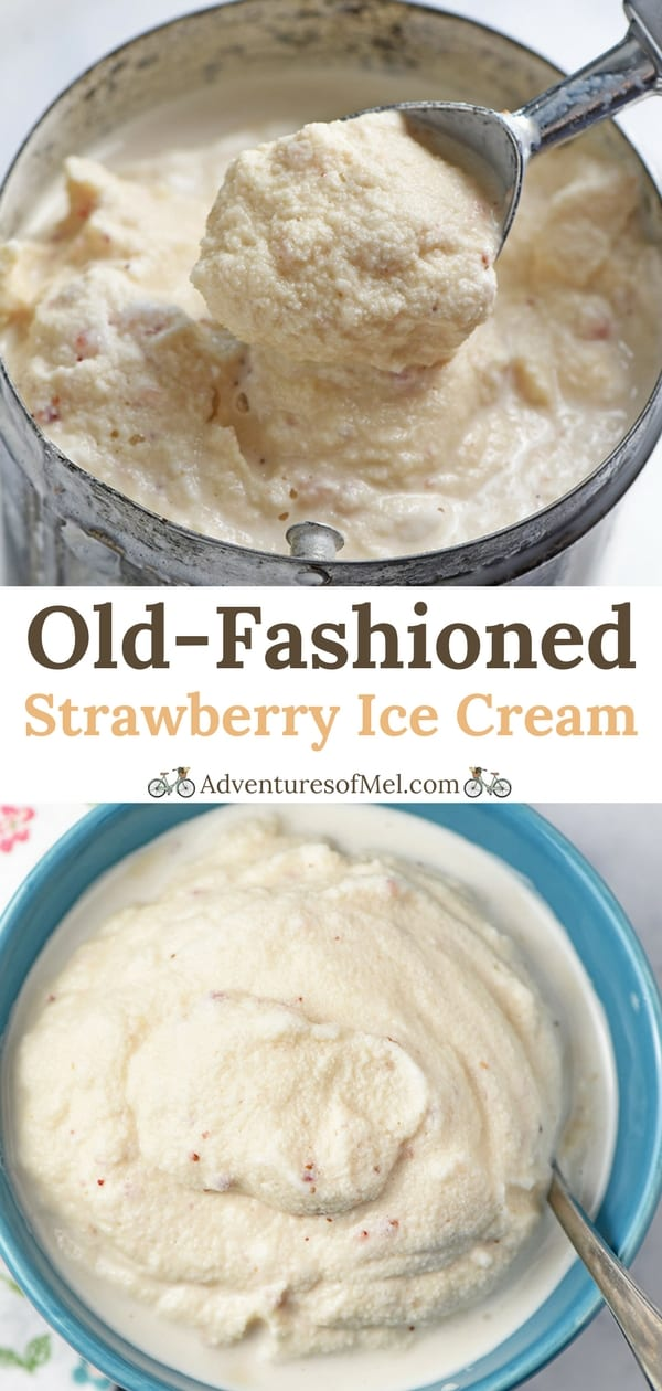 Old-Fashioned Homemade Strawberry Ice Cream Recipe