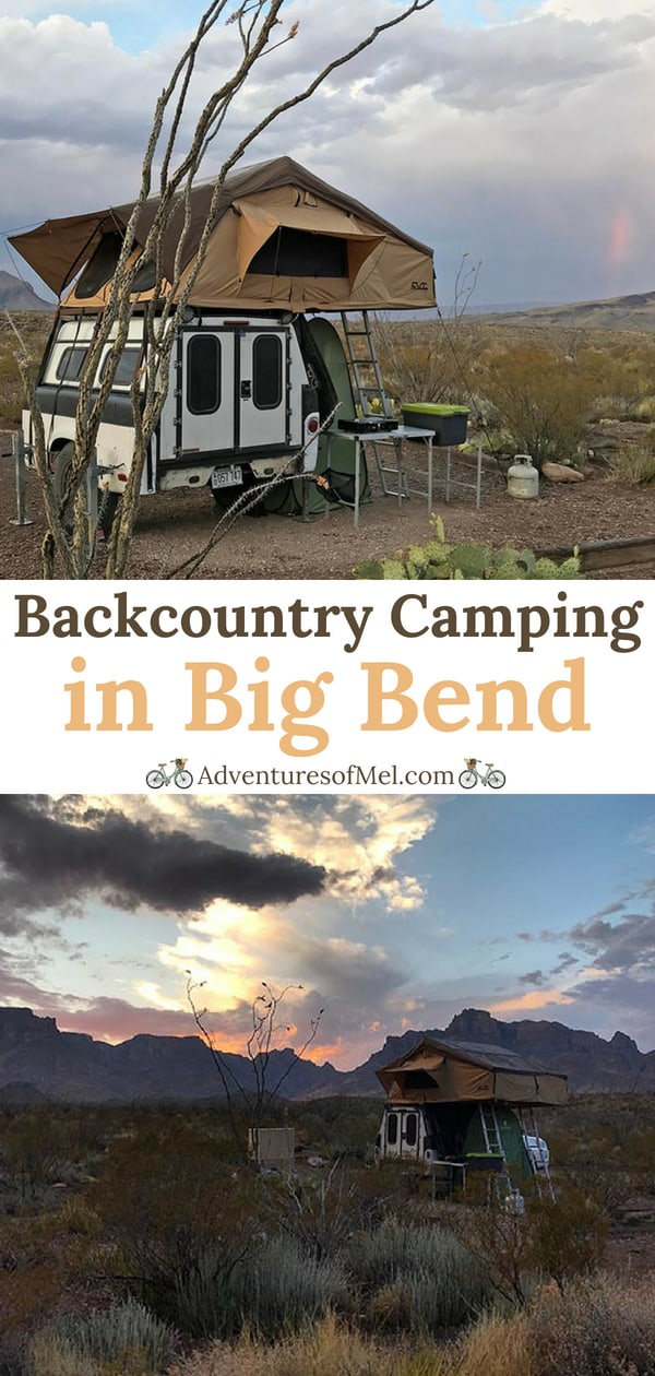 Backcountry camping in Big Bend National Park