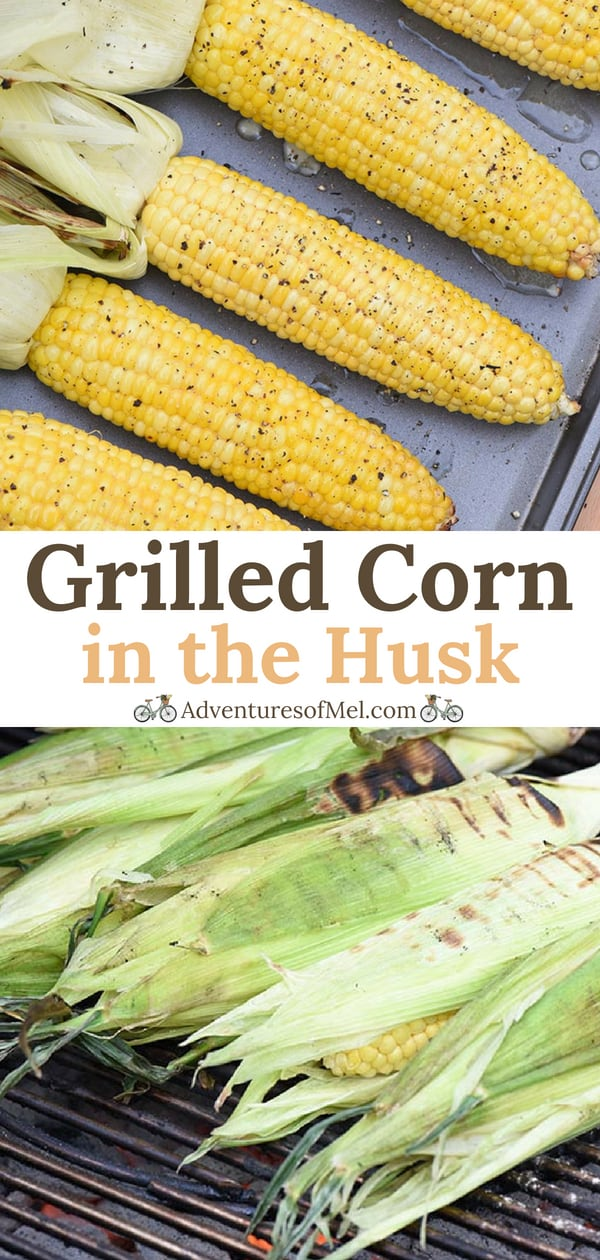 Grilled Corn in the Husk with Honey Butter