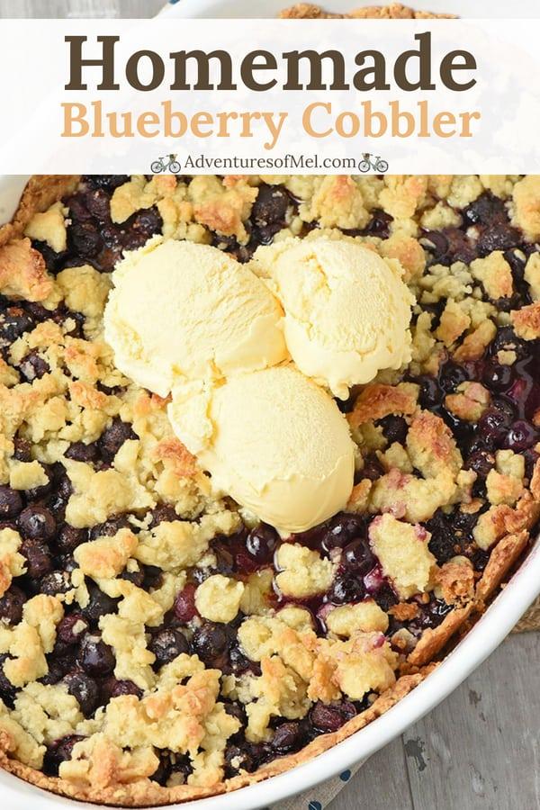 recipe for blueberry cobbler