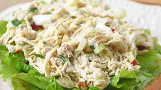Open-Faced Chicken (or Tuna) Salad Sandwich Recipe
