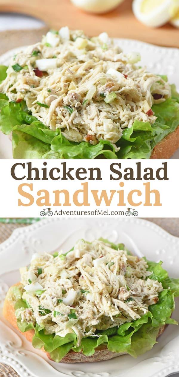 Open-Faced Chicken Salad Sandwich Recipe