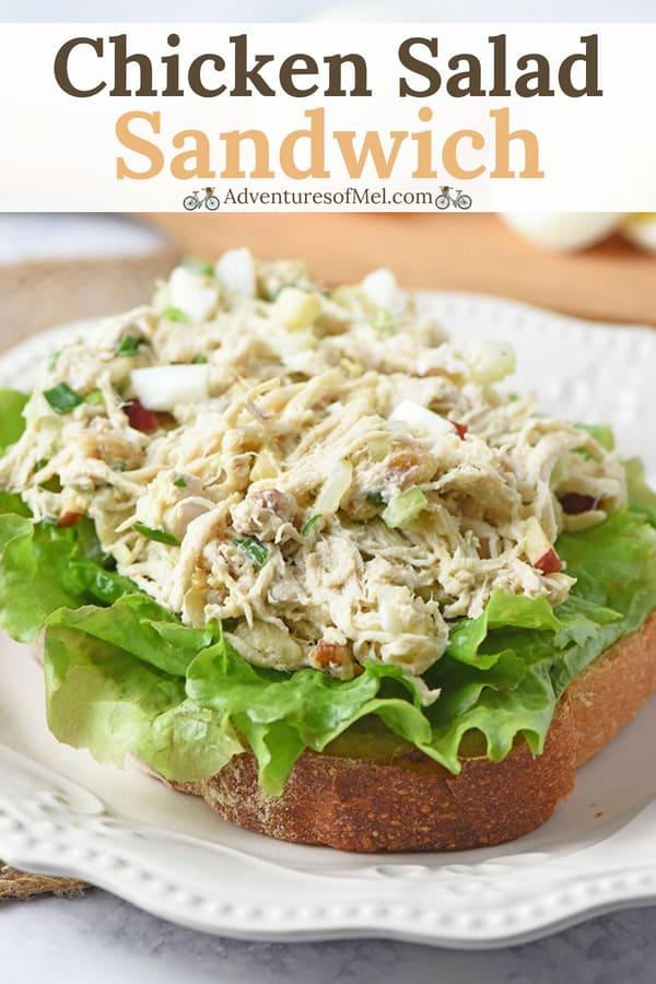 my family's favorite chicken salad sandwich recipe