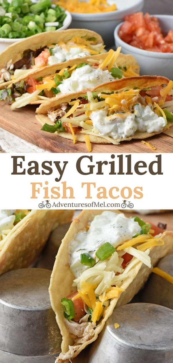 Easy Fish Tacos with a Tzatziki Fish Taco Sauce
