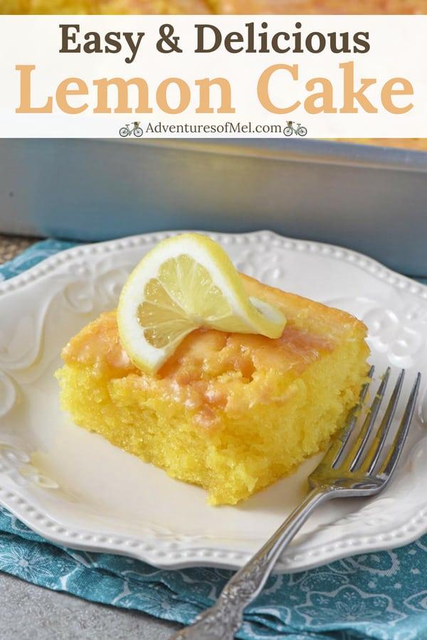 best summer dessert ever, easy lemon cake recipe
