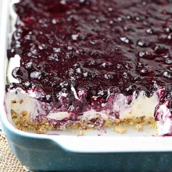 Creamy No Bake Blueberry Dessert