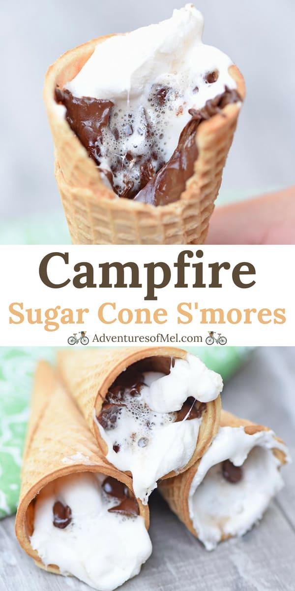 Campfire Sugar Cone S'mores Recipe