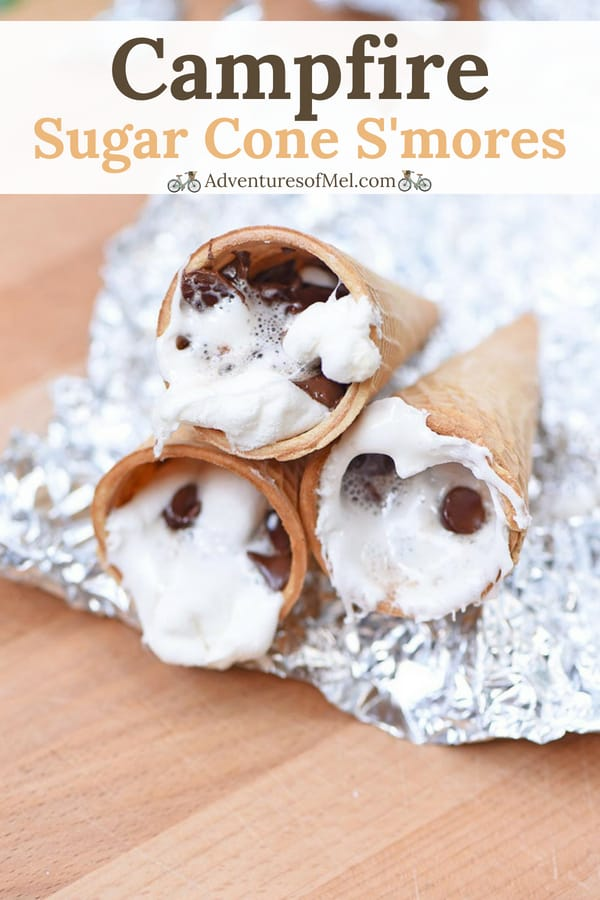 how to make yummy sugar cone s'mores with your kids