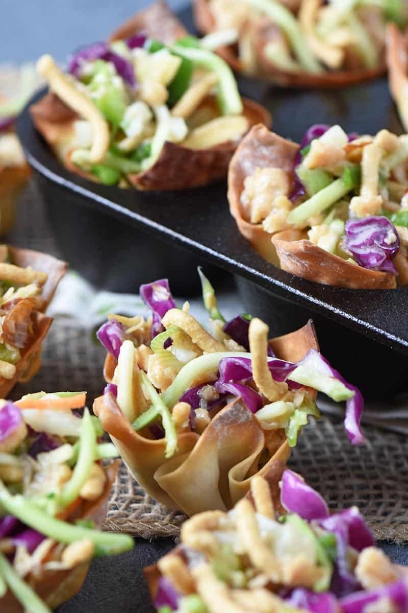 Asian Chicken Salad wonton recipe