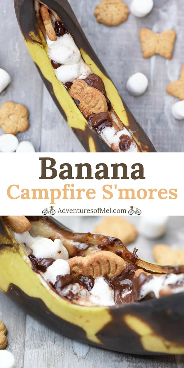Grilled Banana Campfire S'mores Recipe