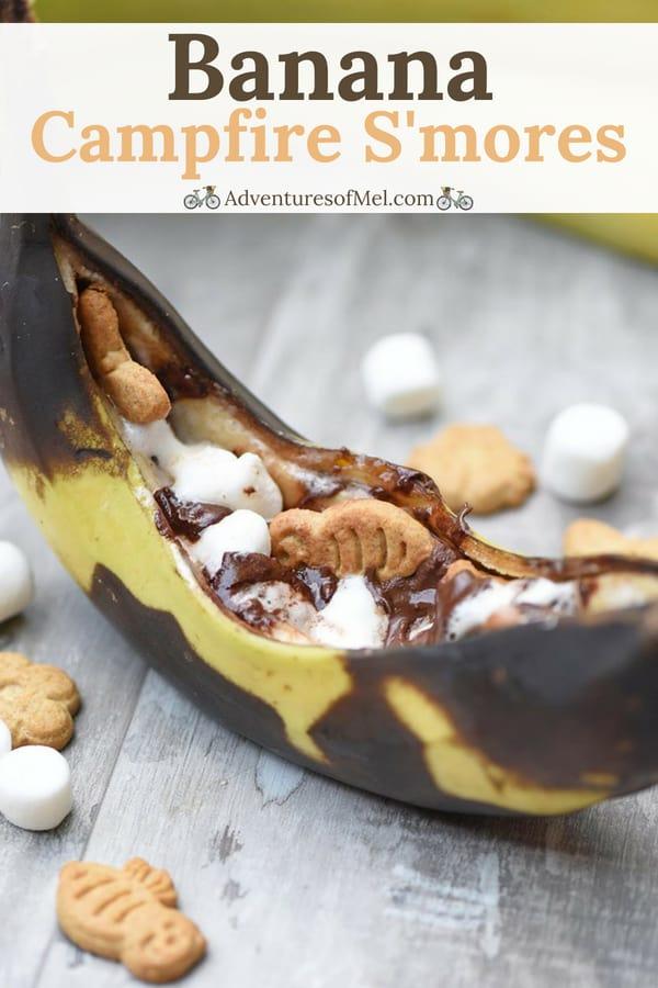 deliciously gooey grilled banana campfire s'mores recipe