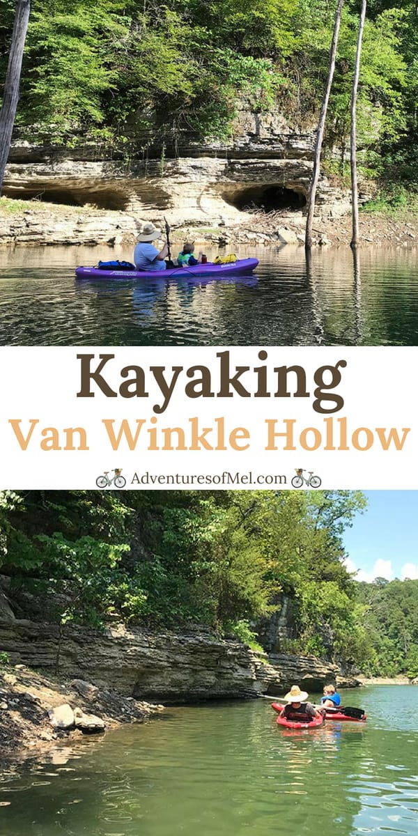 Kayaking Beaver Lake at Scenic Van Winkle Hollow
