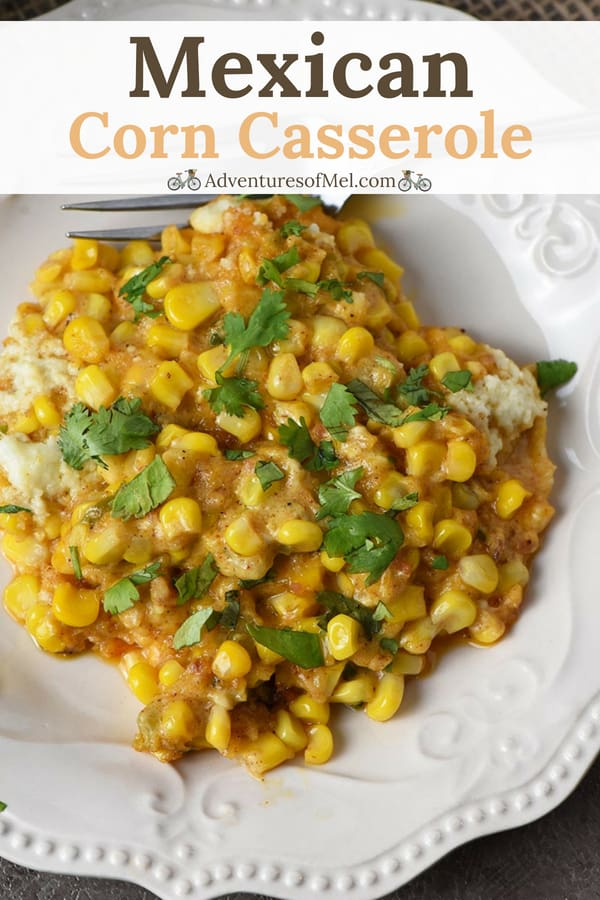easy Mexican corn casserole recipe with bacon