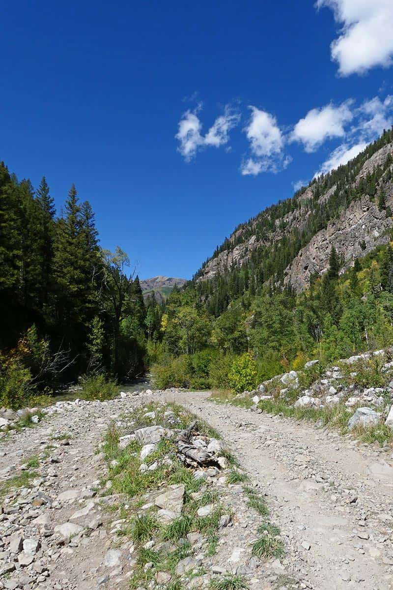 road with turnouts to Crystal Mill Marble CO