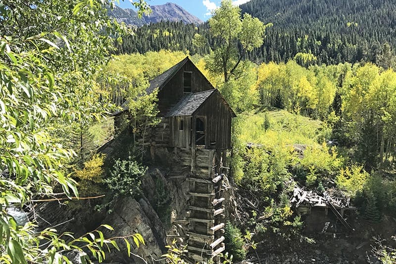 Crystal Mill CO in the Rocky Mountains of Colorado