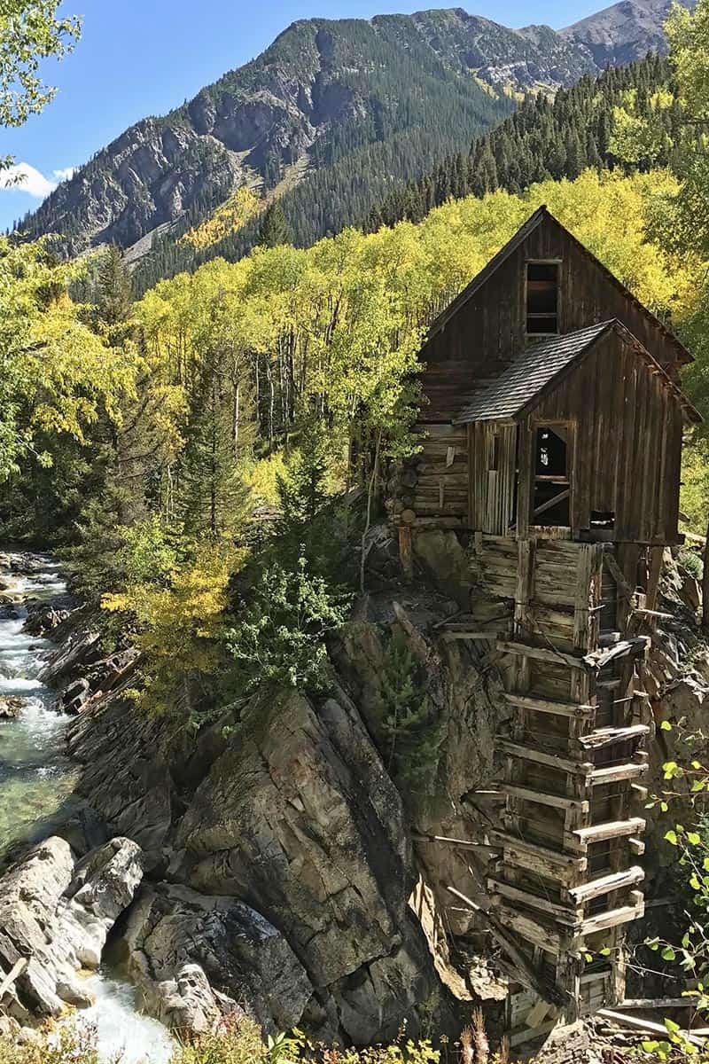 haunted Crystal Mill outside Marble, Colorado
