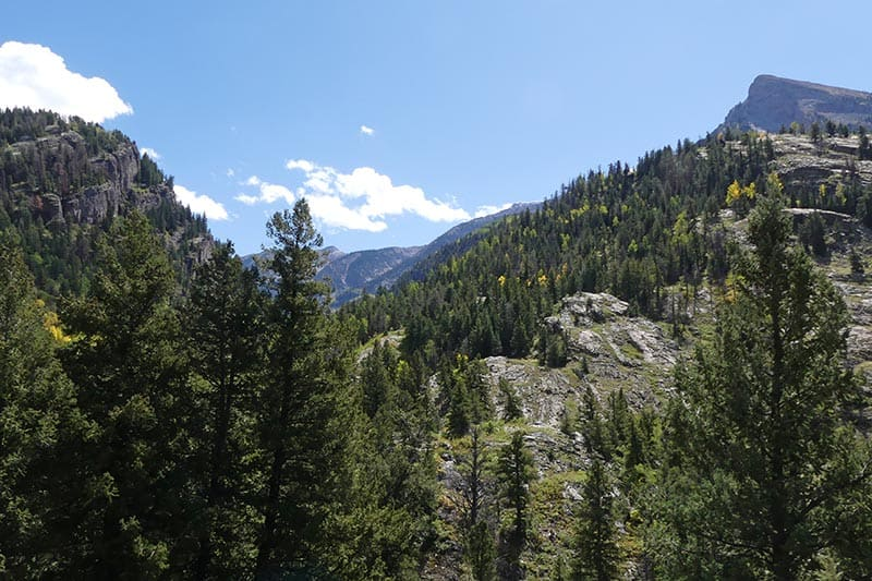 rugged Rocky Mountains near Crystal and Marble, Colorado
