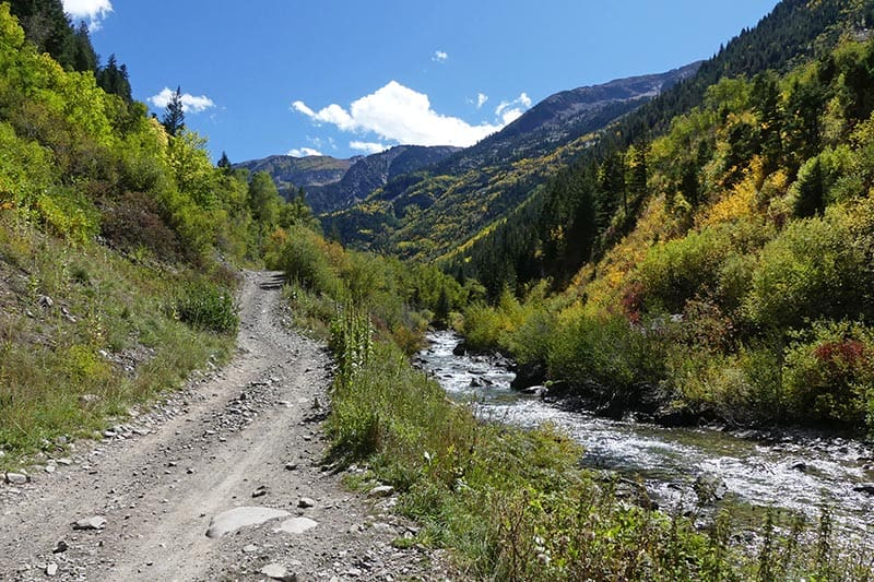 how to get to Crystal Mill on a winding road beside the Crystal River near Marble, Colorado