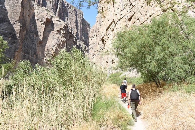 hiking Santa Elena Canyon in Big Bend National Park