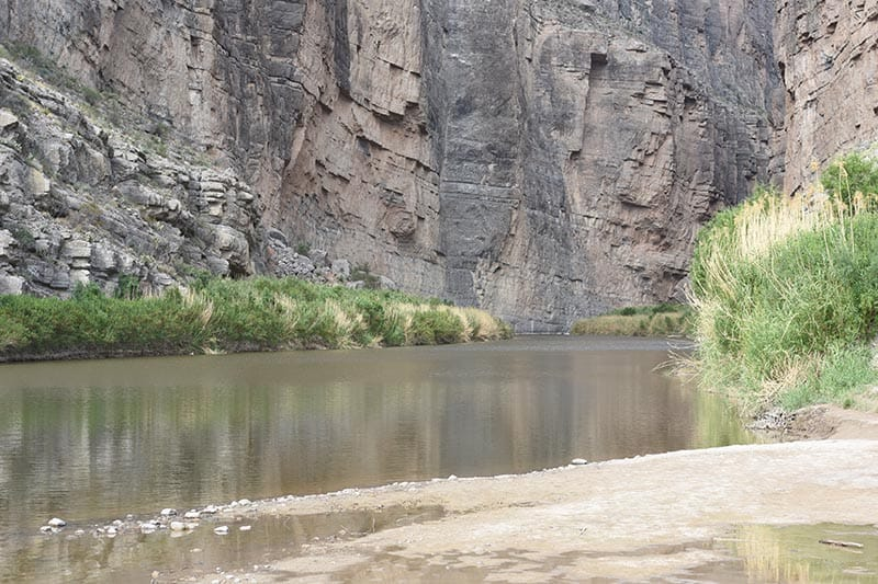 the Rio Grande flowing through Santa Elena Canyon