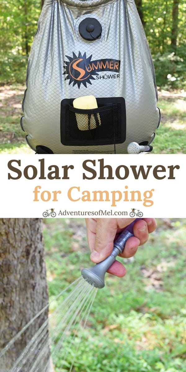 wash up with a solar outdoor shower for camping