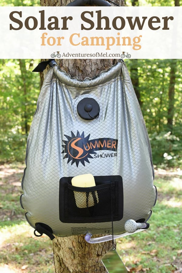 solar shower for camping and outdoors