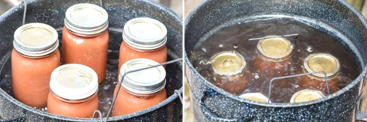 canning applesauce in water bath canner