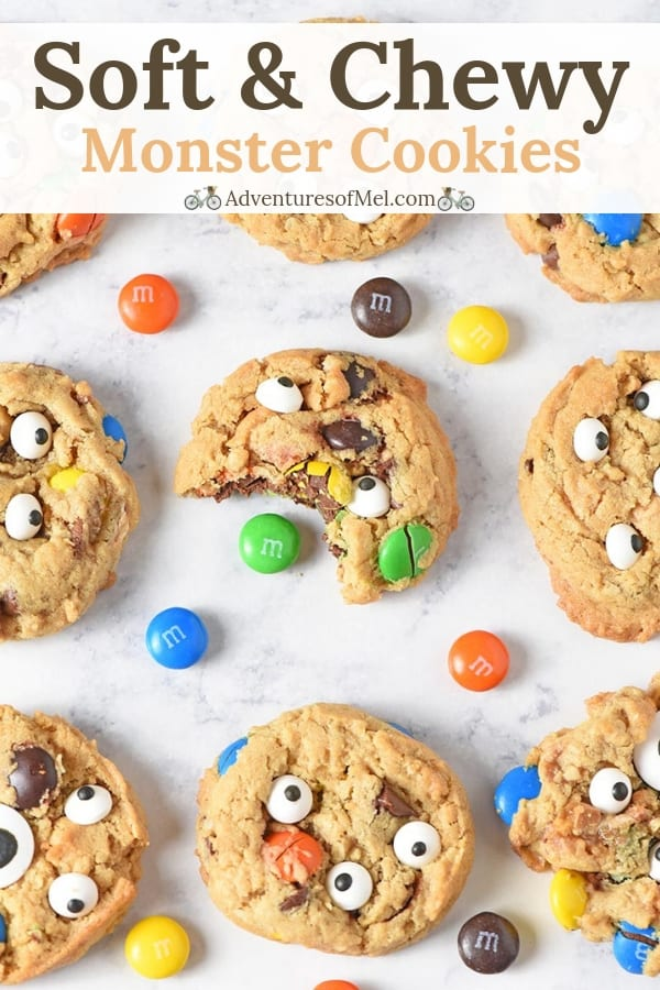 Chewy Monster Cookies Recipe made with M&M'S candies