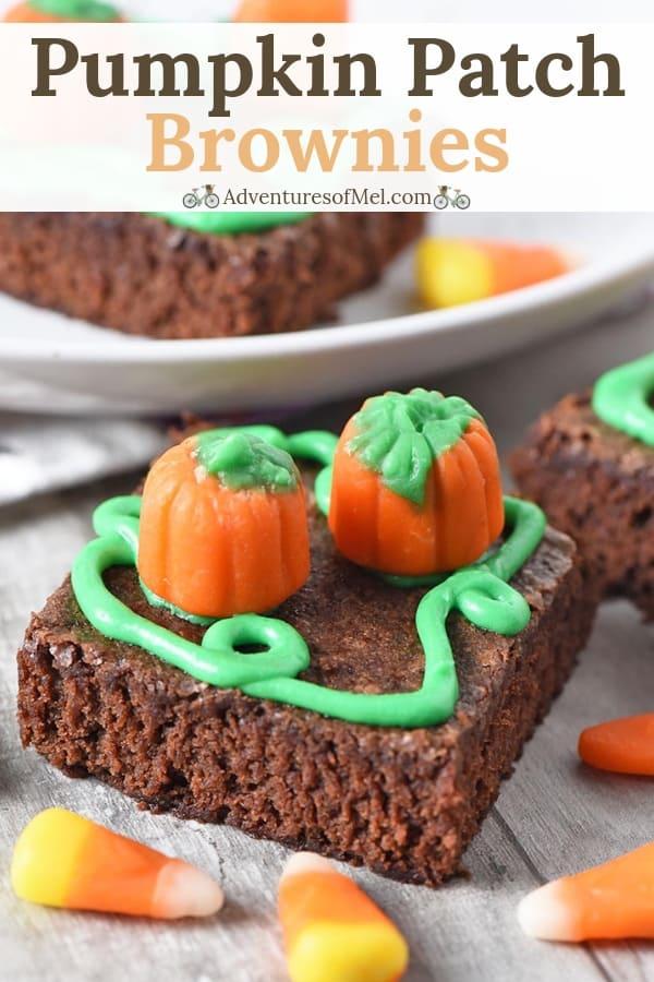 chewy pumpkin patch halloween brownies recipe