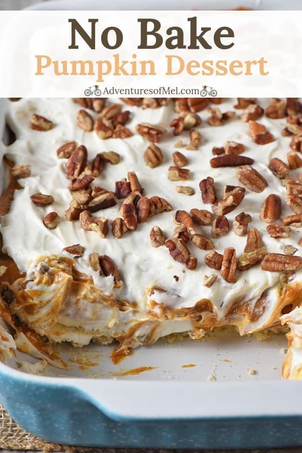 creamy no bake pumpkin dessert recipe
