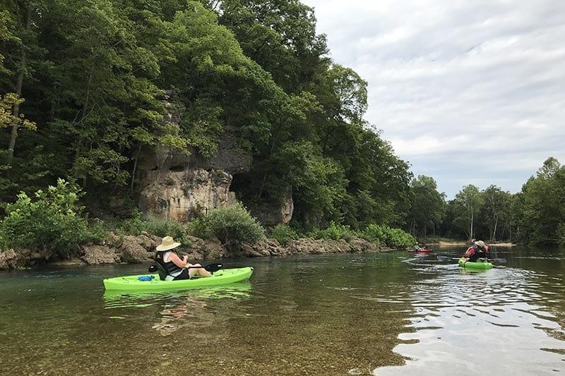floating the Jacks Fork River, Missouri