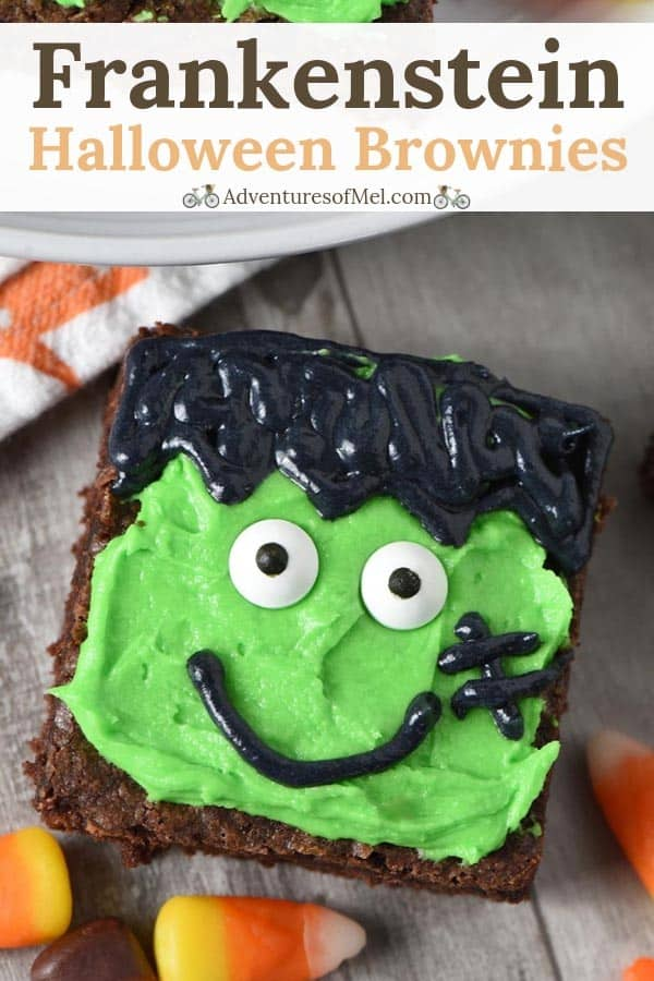 Frankenstein Halloween Brownies recipe