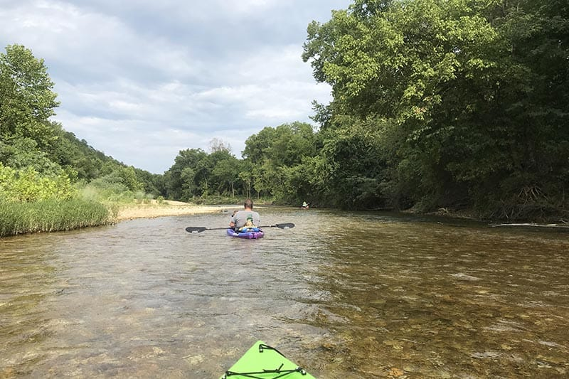 Missouri float trip on the Jacks Fork River from Alley Spring to Eminence
