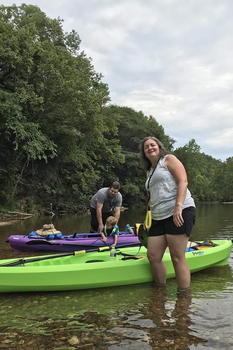river kayaking on the Jacks Fork River