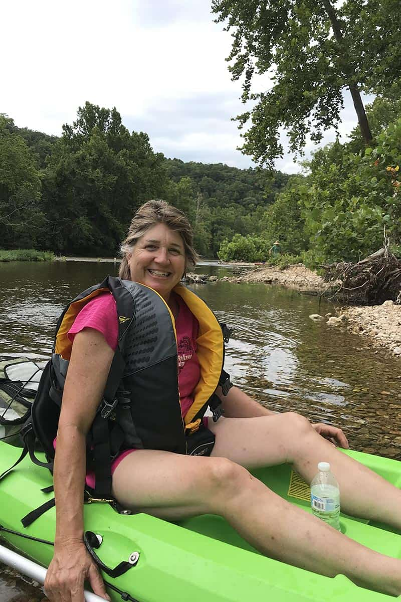 kayaking the Jacks Fork River with my sister