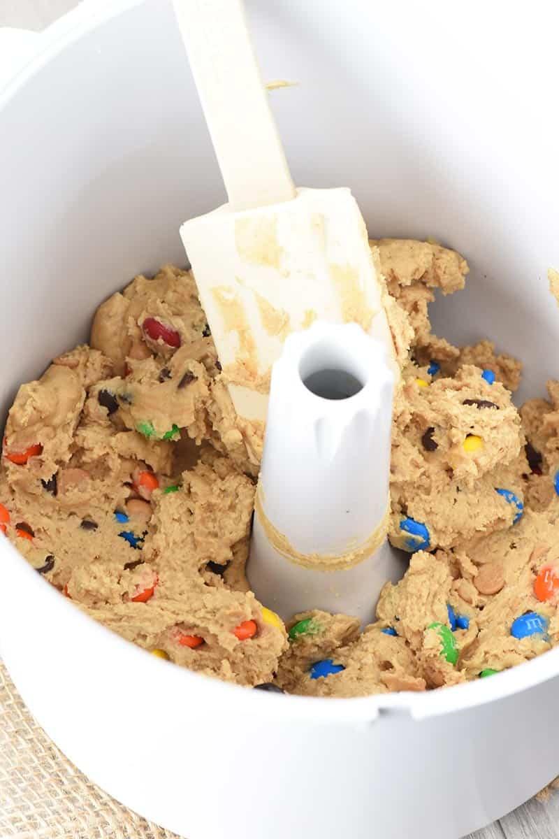 monster cookie dough for Halloween monster cookies