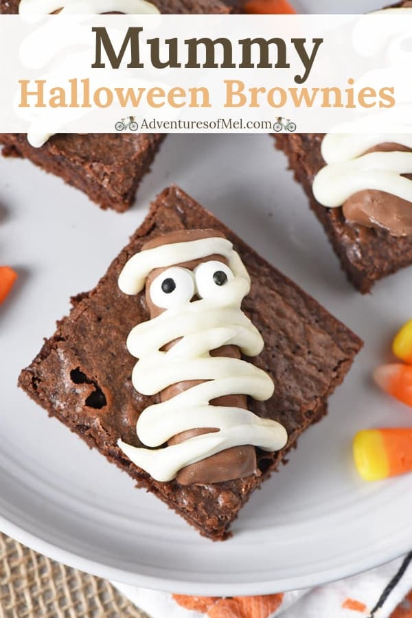 Easy Halloween Brownies with Twix Bar Mummies