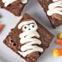 Twix Bar Mummy Halloween Brownies