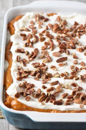 Creamy No Bake Pumpkin Dessert