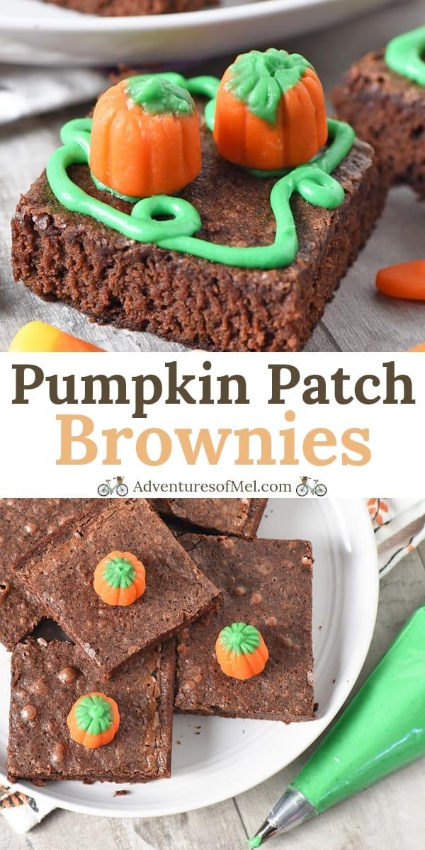 Pumpkin Patch Halloween Brownies recipe