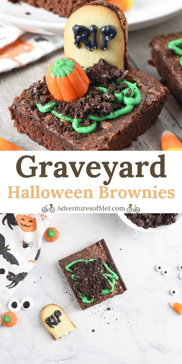 spooky graveyard halloween brownies recipe