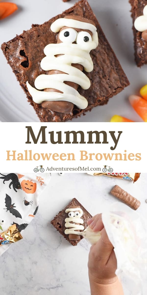 Twix Bars Mummy Halloween Brownies Halloween Treats Recipe