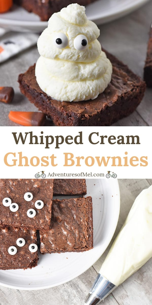 Whipped Cream Ghost Halloween Brownies Recipe