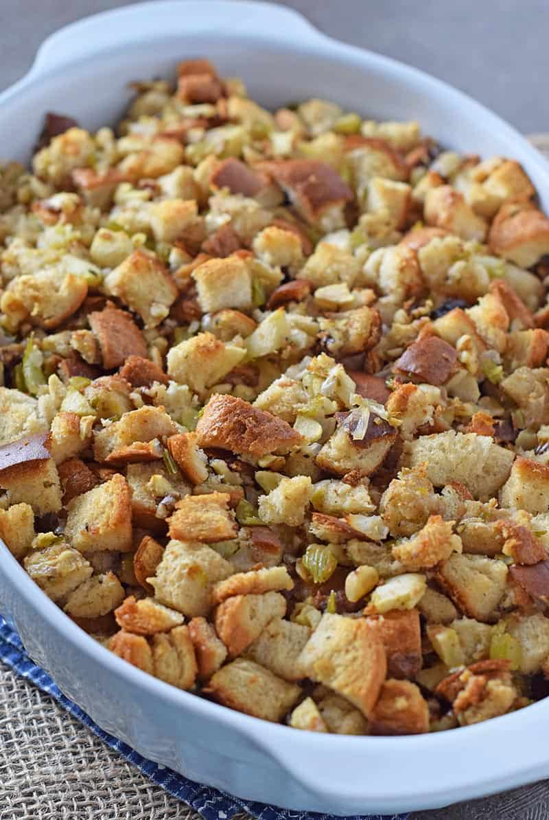 Apple Walnut Bread Stuffing