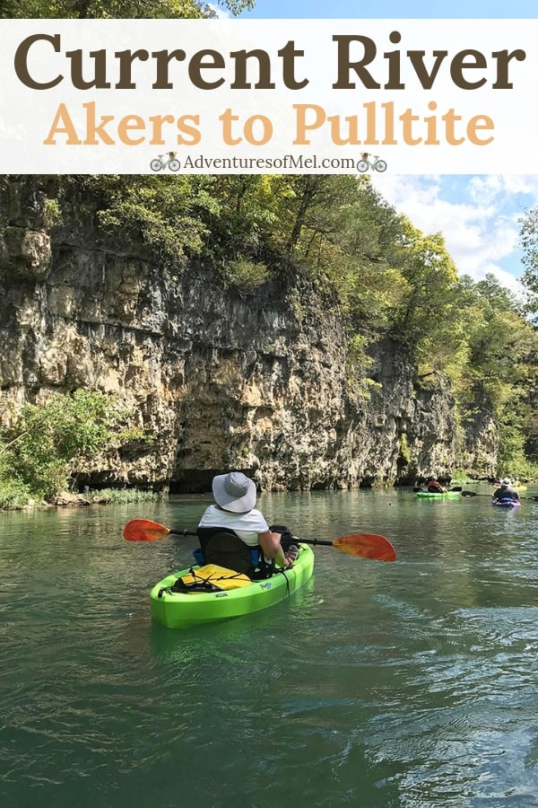 river kayaking on the Current River in Missouri from Akers Ferry to Pulltite on Ozark National Scenic Riverways